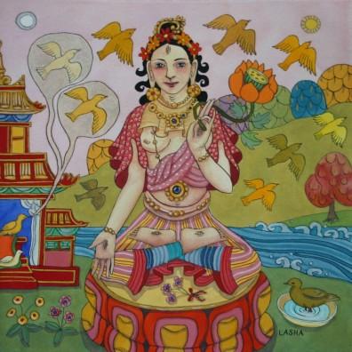White Tara with a Jataka Tale