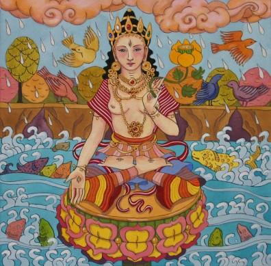 White Tara with Fish Jataka Tale