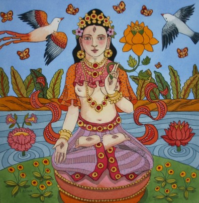 White Tara with Golden Lotus
