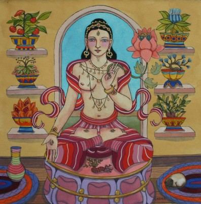 White Tara with Medicinal Plants