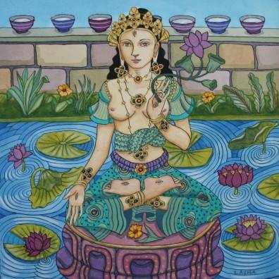 White Tara with Purple Lotuses