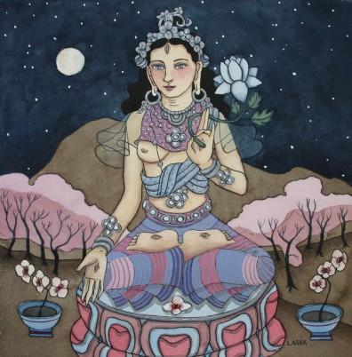 White Tara with the Moon