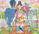 White Tara with Elephant and Snow Leopard