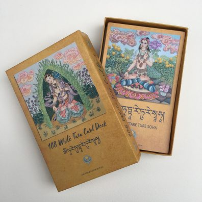 108 White Tara Card Deck Box